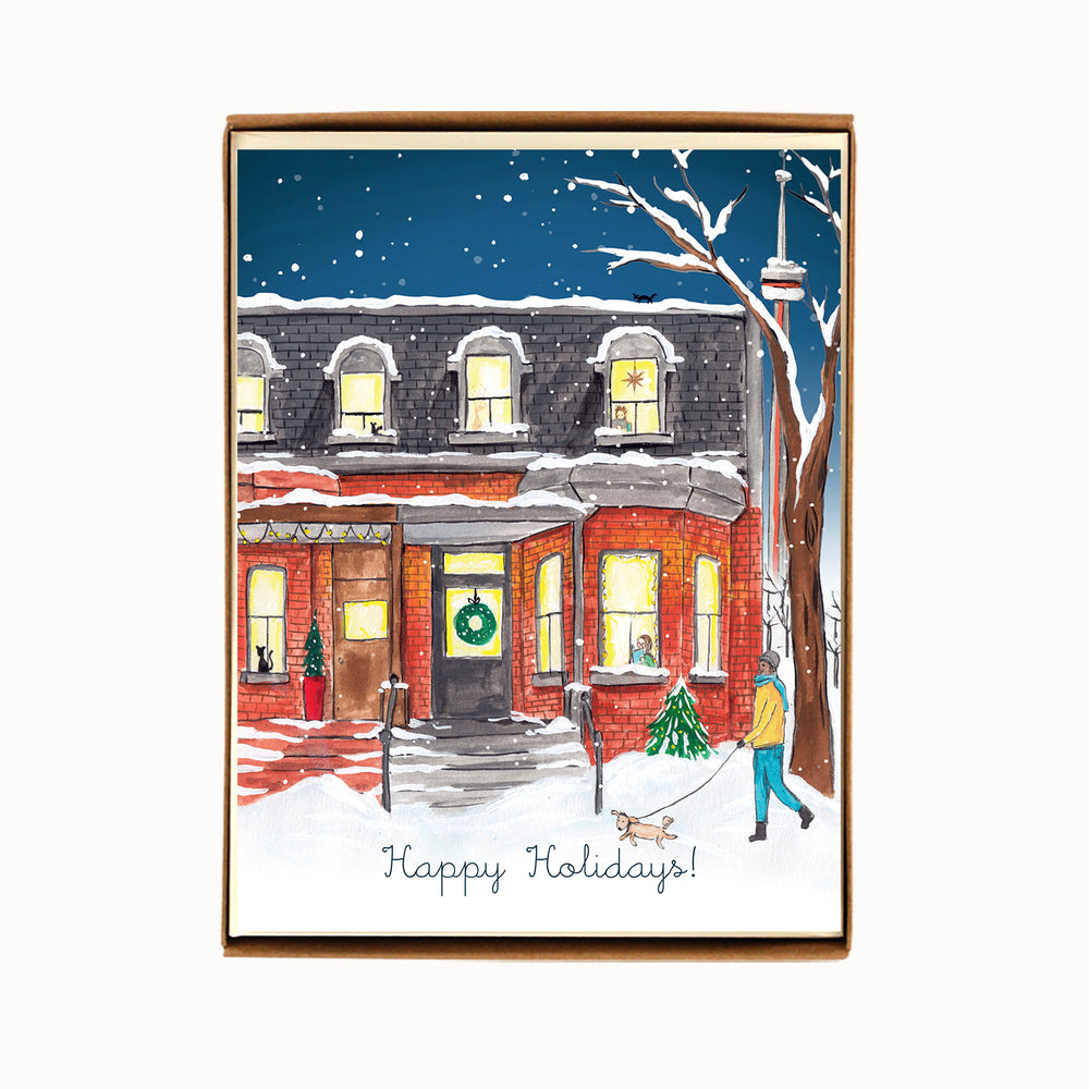 Box of 8 Toronto Draper Street Holiday Cards