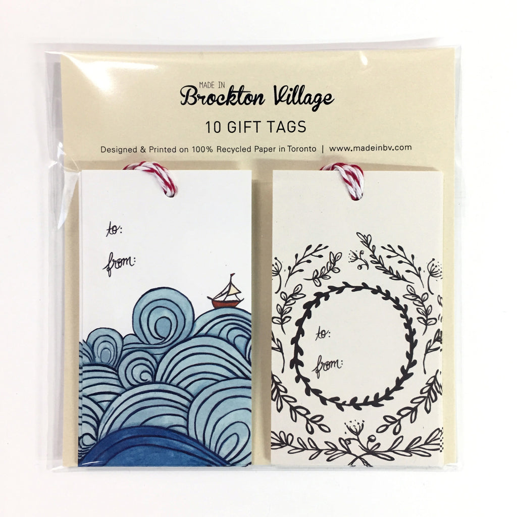 Gift Tags - Waves & Leaves