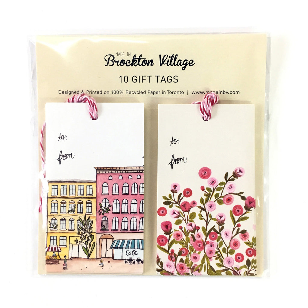 Gift Tags - Houses & Roses