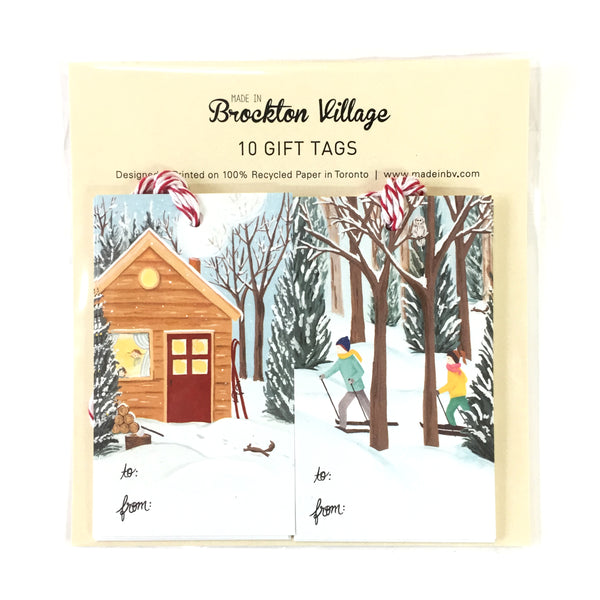Gift Tags - Winter Cottage & Cross Country
