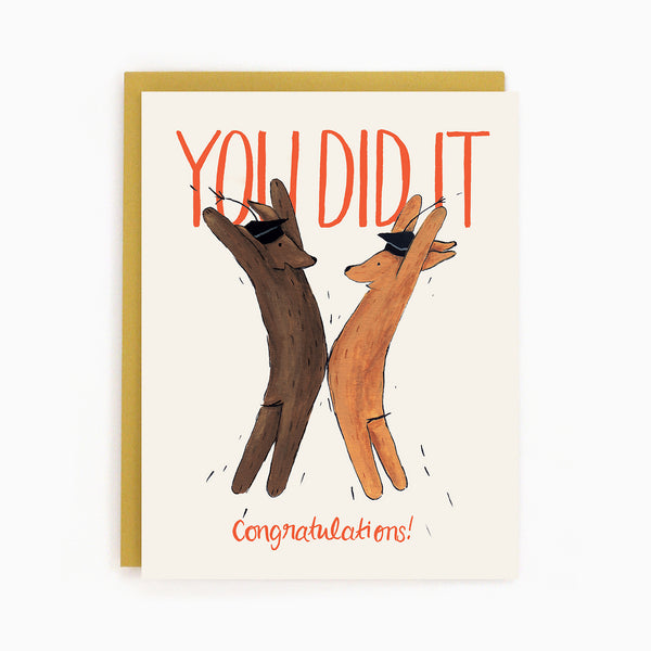 Graduation Dogs Card