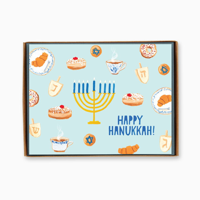 Box of 8 Hanukkah Treats Cards