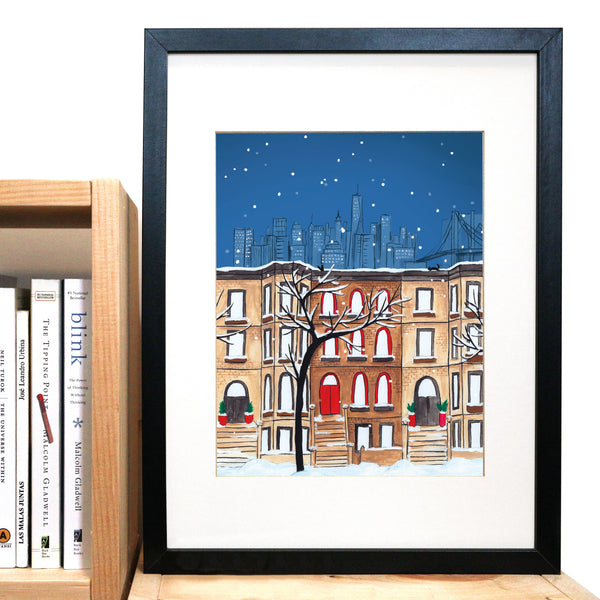 Brooklyn Winter Cityscape Print