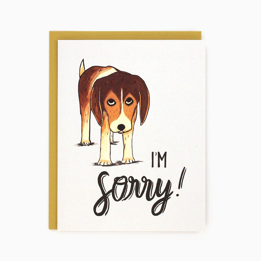 Sorry Beagle Card