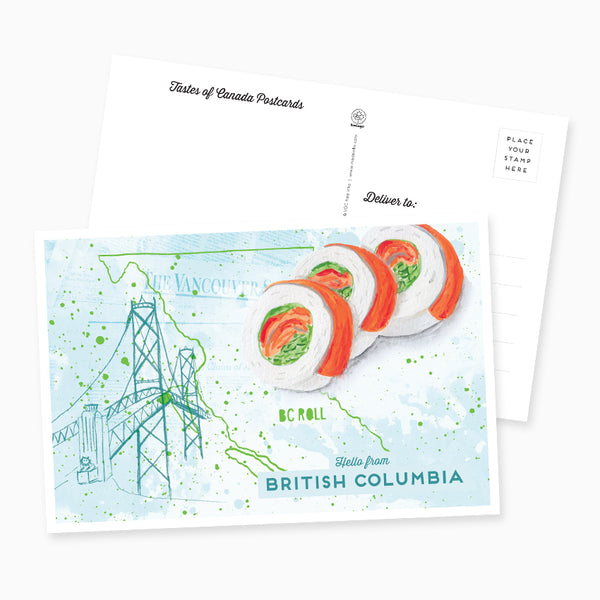 Hello from British Columbia Postcard