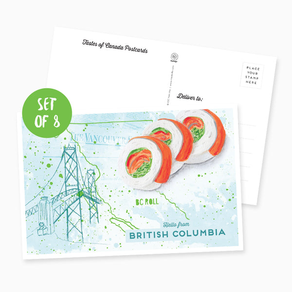 Hello from British Columbia Postcard - Set of 8