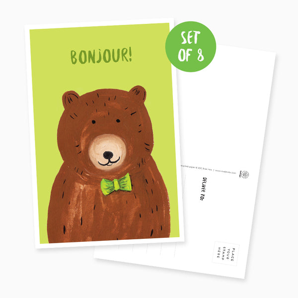 Bear Postcard - Set of 8