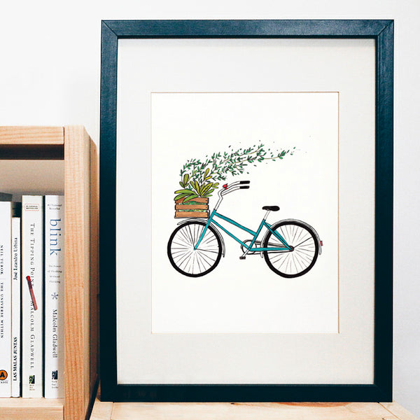 Blooming Bike Print