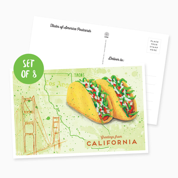 Greetings from California Postcard - Set of 8