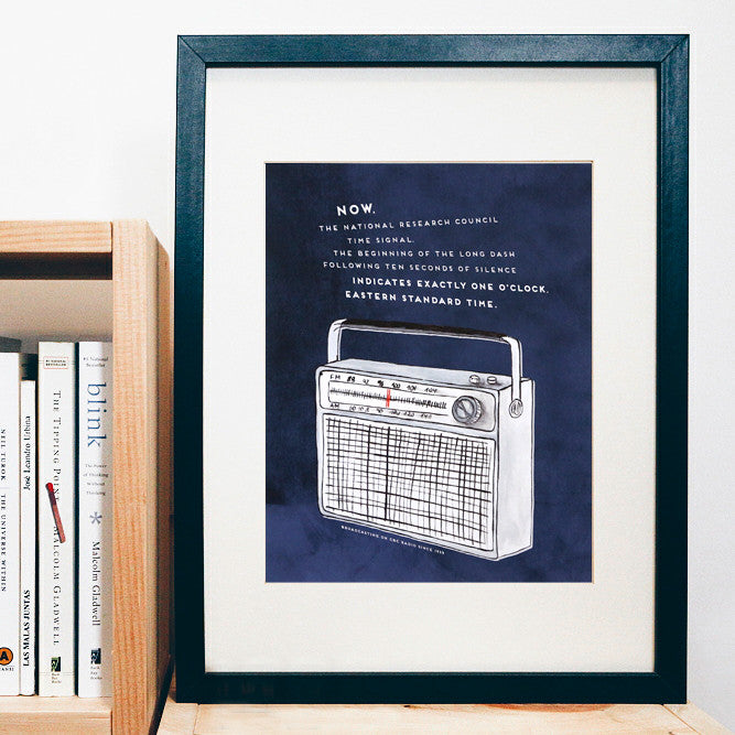 Blue CBC Radio Time Signal Print