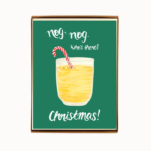 Load image into Gallery viewer, Box of 8 Eggnog Christmas Cards