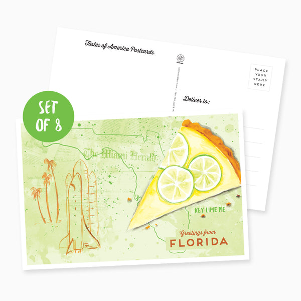 Greetings from Florida Postcard - Set of 8
