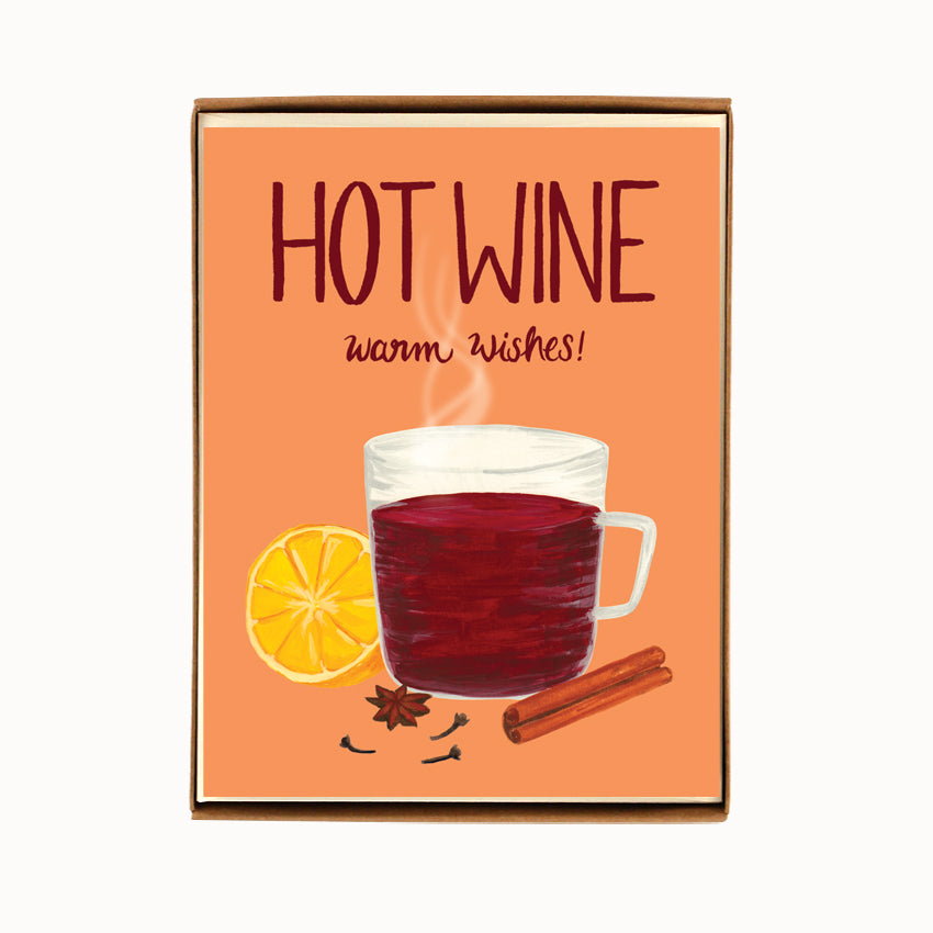 Load image into Gallery viewer, Box of 8 Hot Wine Christmas Cards
