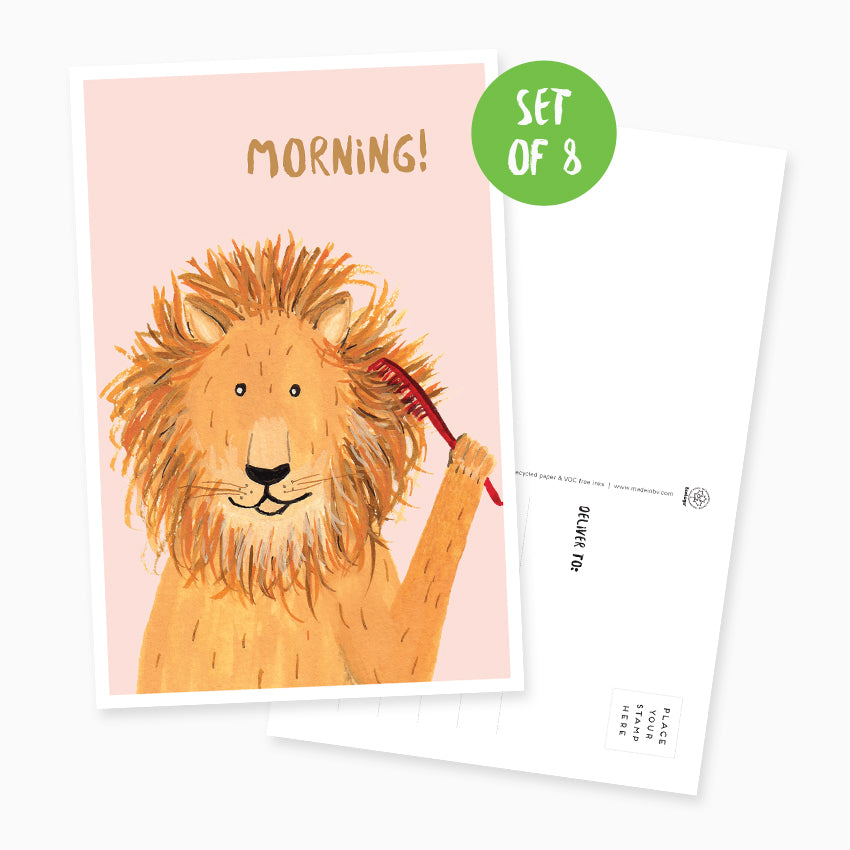 Lion Postcard - Set of 8