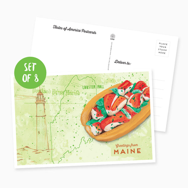 Greetings from Maine Postcard - Set of 8