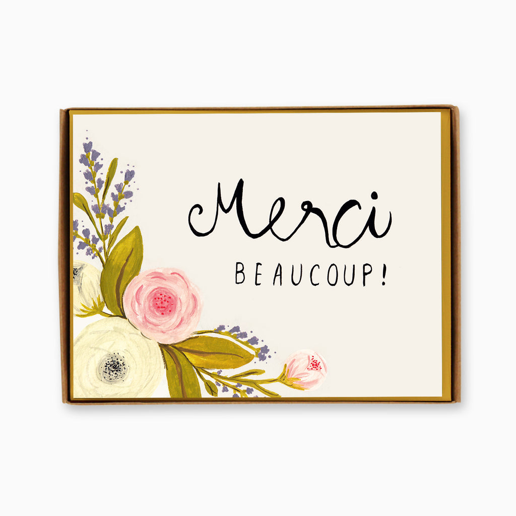 Box of 8 Merci Beaucoup Cards
