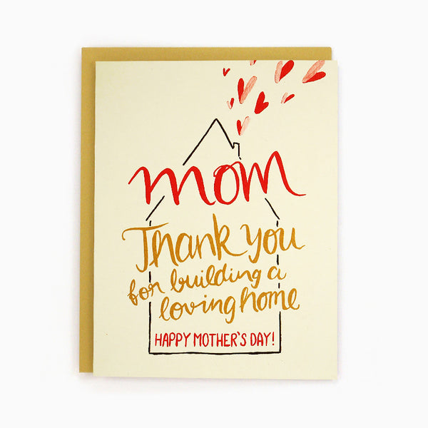 Mom Loving Home Card