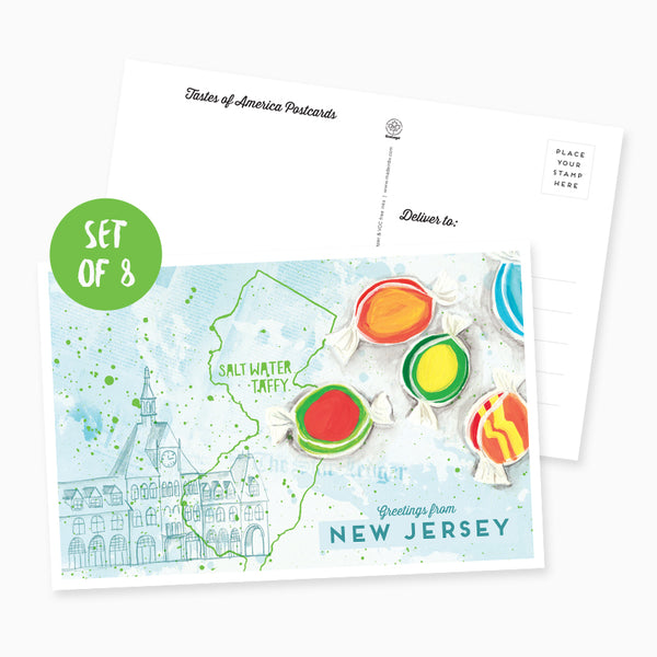 Greetings from New Jersey Postcard - Set of 8