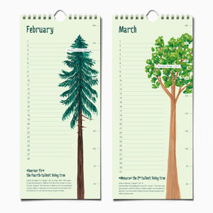 Load image into Gallery viewer, Epic Trees Calendar - Birthday Calendar