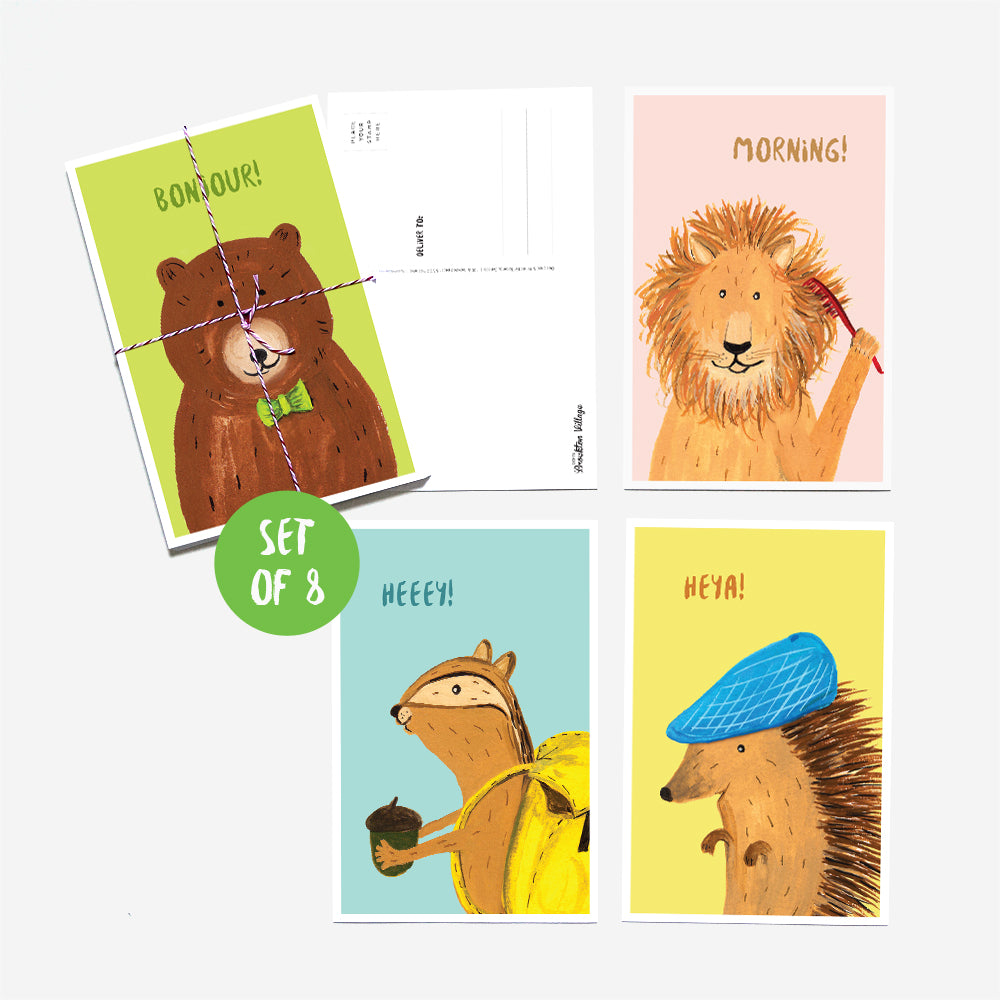 Critter Postcards - Set of 8