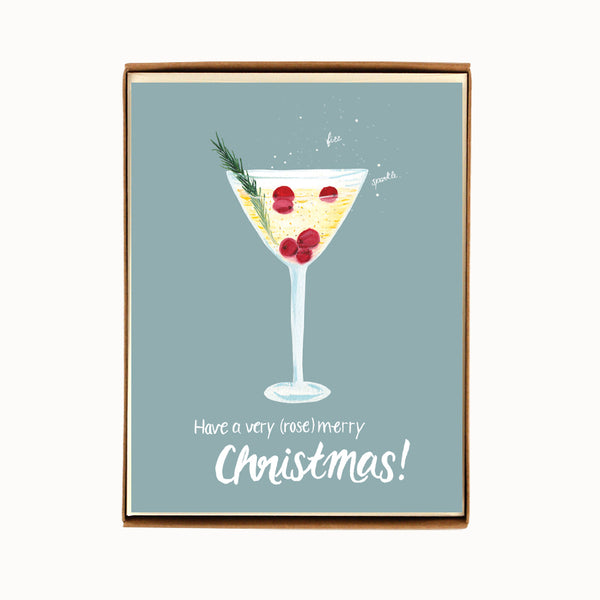 Box of 8 Saketini Christmas Cards