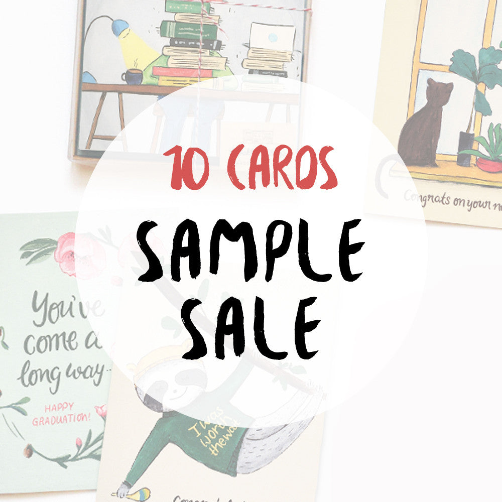 Greeting card sample sale pack of 10 cards made in brockton village greeting card sample sale pack of 10 cards kristyandbryce Image collections