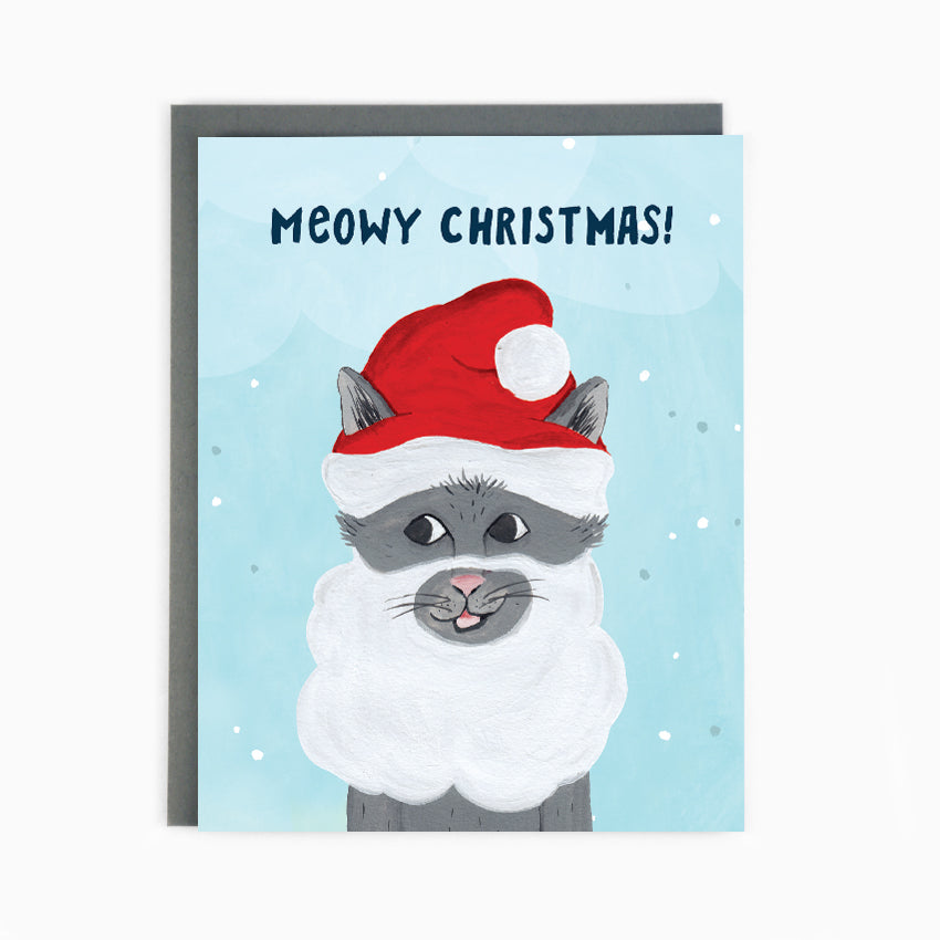 Santa Cat Holiday Card