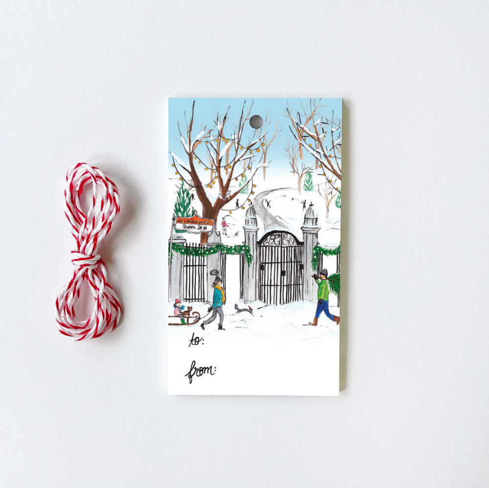 Toronto Bellwoods - 10 Holiday Gift Tags