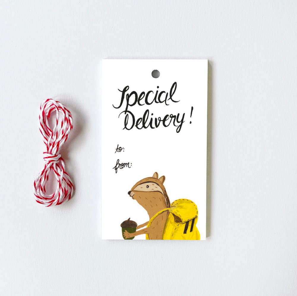 Chipmunk - 10 Gift Tags