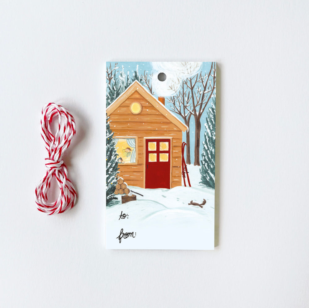 Cottage - 10 Gift Tags