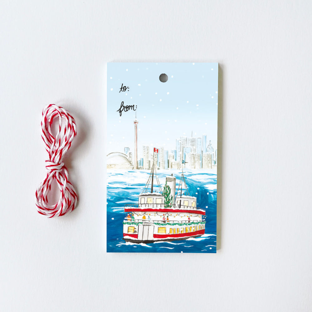 Toronto Ferry - 10 Holiday Gift Tags