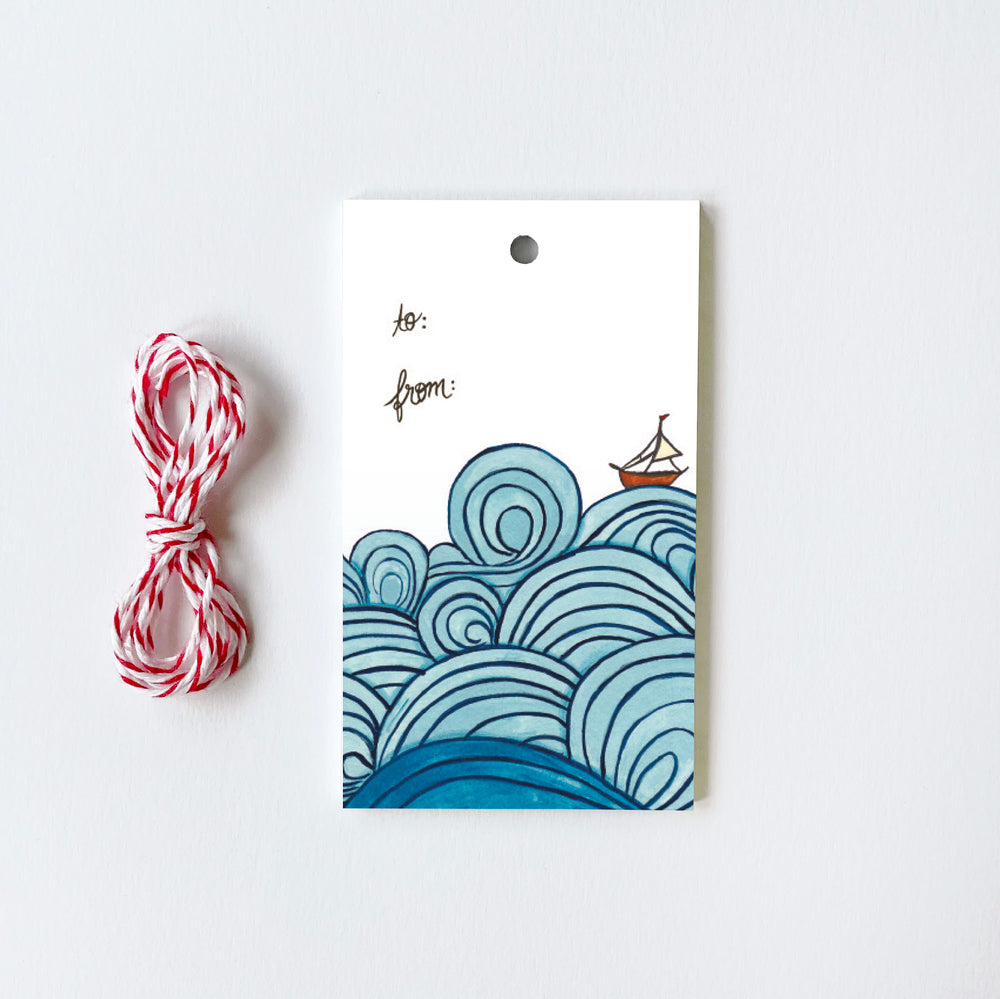 Waves - 10 Gift Tags