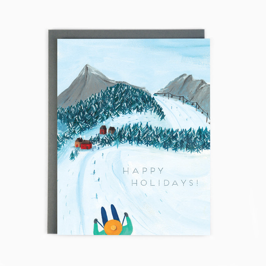 Holiday Skiing Card