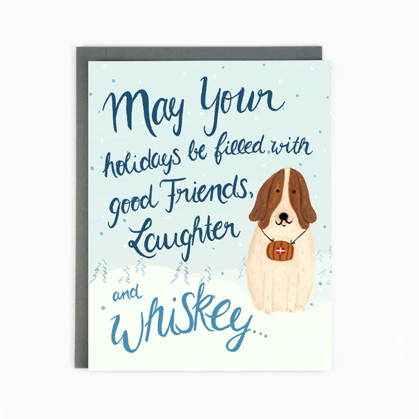 St Bernard Holiday Card