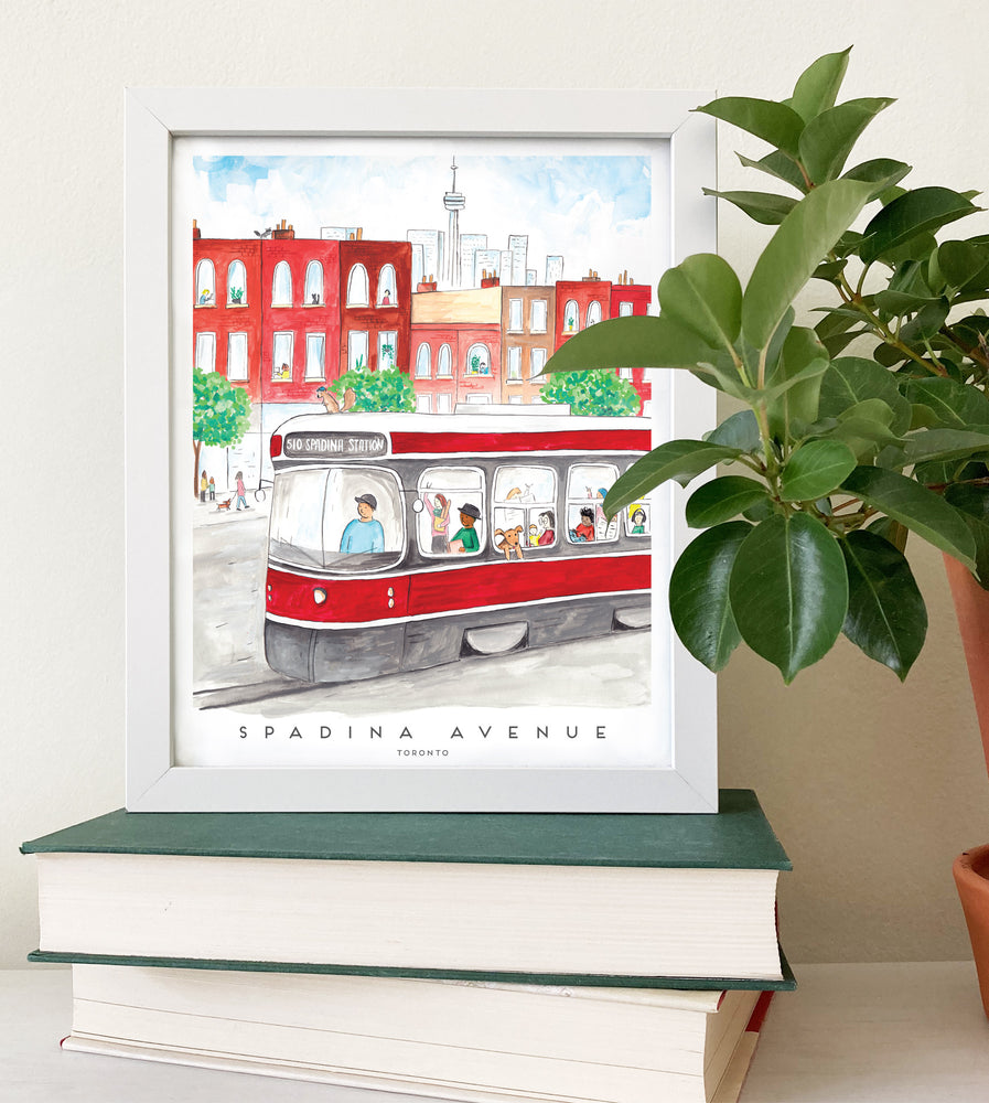 Load image into Gallery viewer, Spadina Streetcar 8x10 inch Artprint