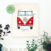 VW Bus Wood Panel