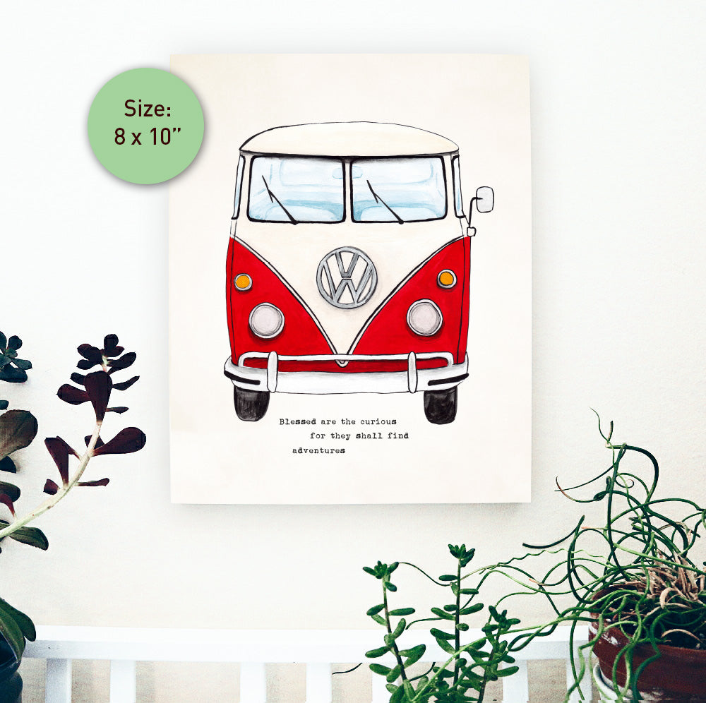 VW Bus Wood Panel 8x10 inch