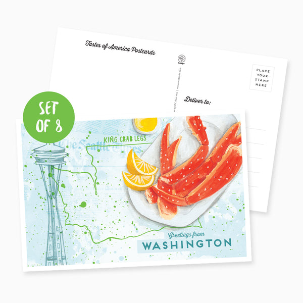 Greetings from Washington Postcard - Set of 8