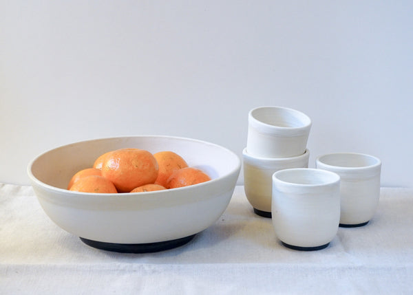 Serving Bowl and Matching Cup Set