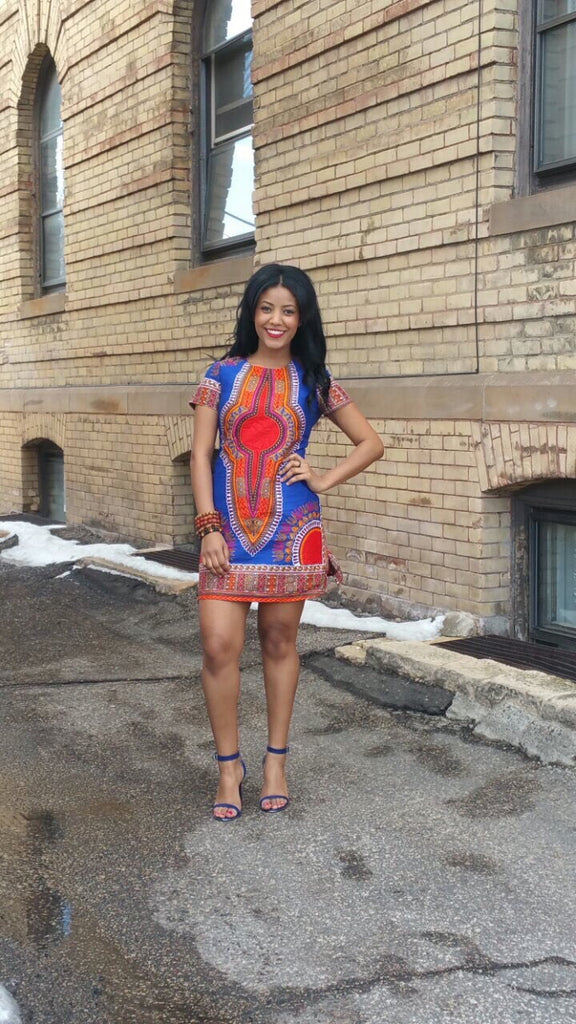 Dashiki African Print Dress