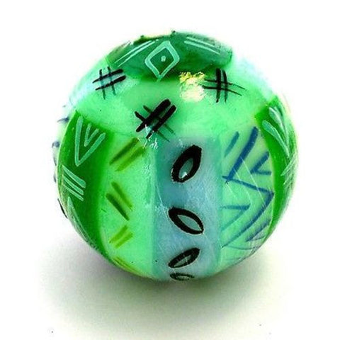 Hand-Painted Ball Candle farih Design Handmade and Fair Trade
