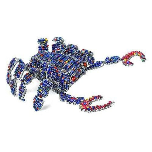 Handmade Beaded Blue Crab Handmade and Fair Trade