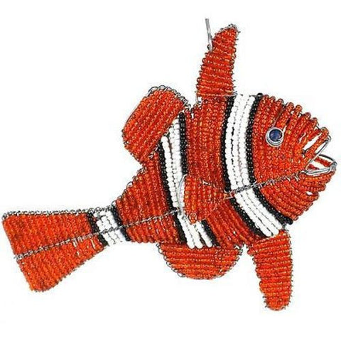 Handmade Beaded Clown Fish Handmade and Fair Trade