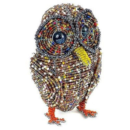 Handmade Beaded Owl Handmade and Fair Trade