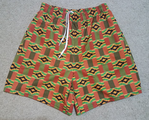 Kente Print Men's Athletic Shorts