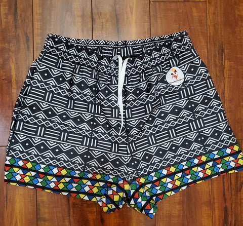 Mud Cloth & Zulu Fusion Women's Athletic Shorts