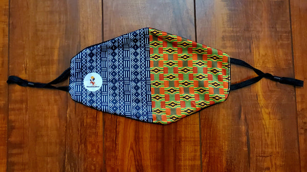Free RuvaAfricWear Kente & Mud Cloth print Face Mask