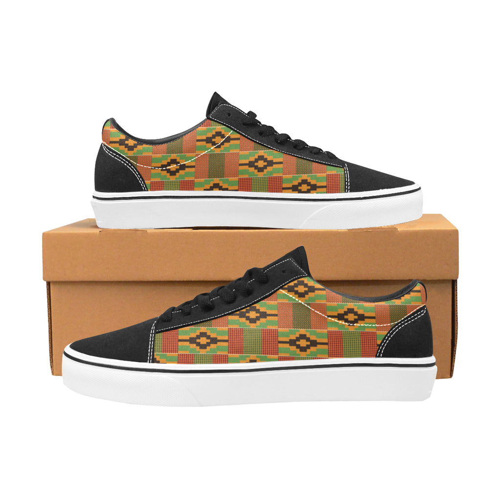 Men's Kente Low Top Skateboarding Shoes (Model E001-2)
