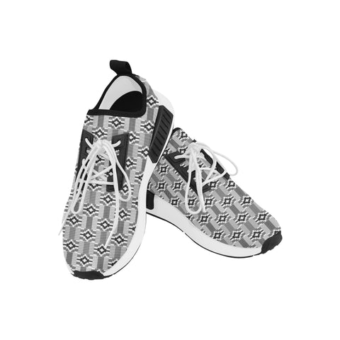 Men's Kente Black and White Running Shoes