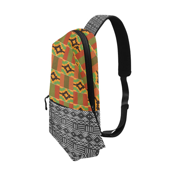 Kente and Mud Cloth Chest Bag Chest Bag
